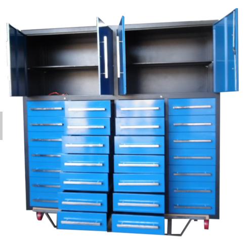 blue heavy duty metal tool cabinet