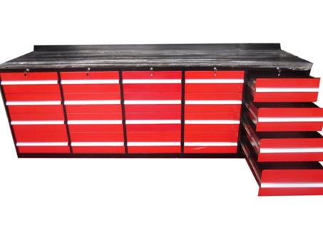 20 Drawer Metal Workbench