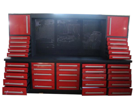 Red Tool Cabinet System With Drawers