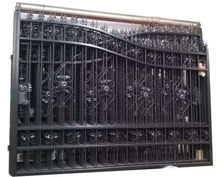 Wrought Swing Driveway Gate